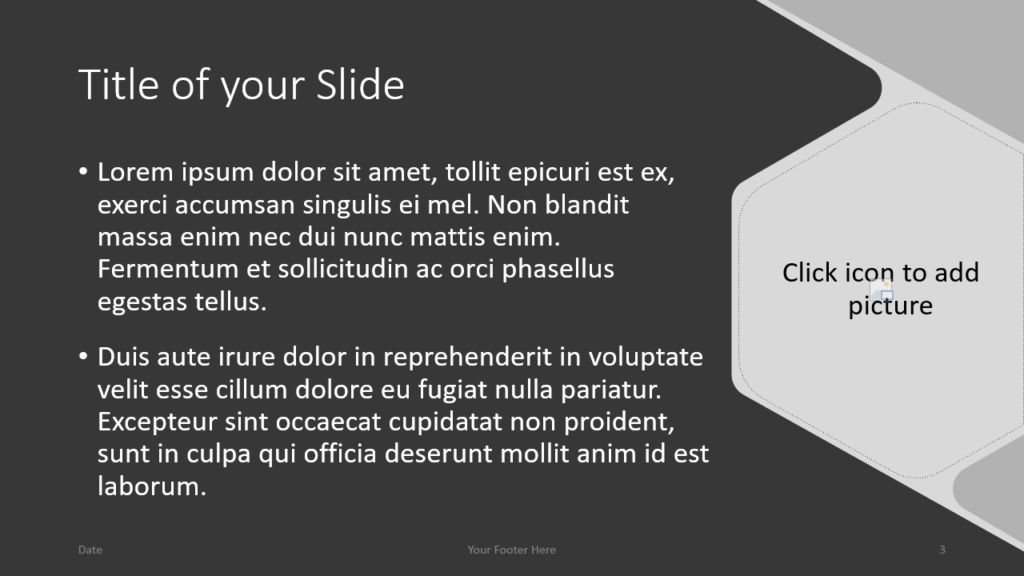 Free Hexagon Template for Google Slides – Title and Content Slide (Variant 2)