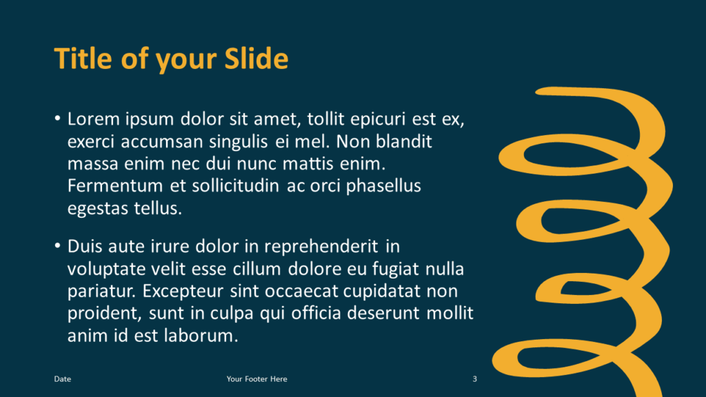 Free Scribble Lines Template for Google Slides – Title and Content Slide (Variant 2)