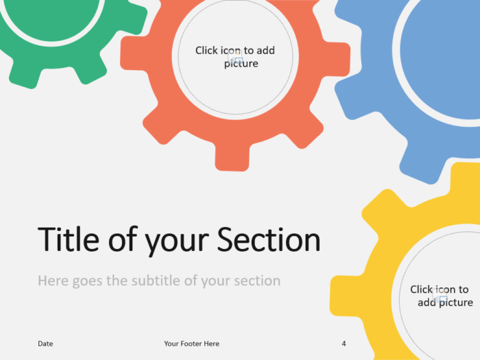 Free Gears Template for PowerPoint – Section Slide (Variant 1)