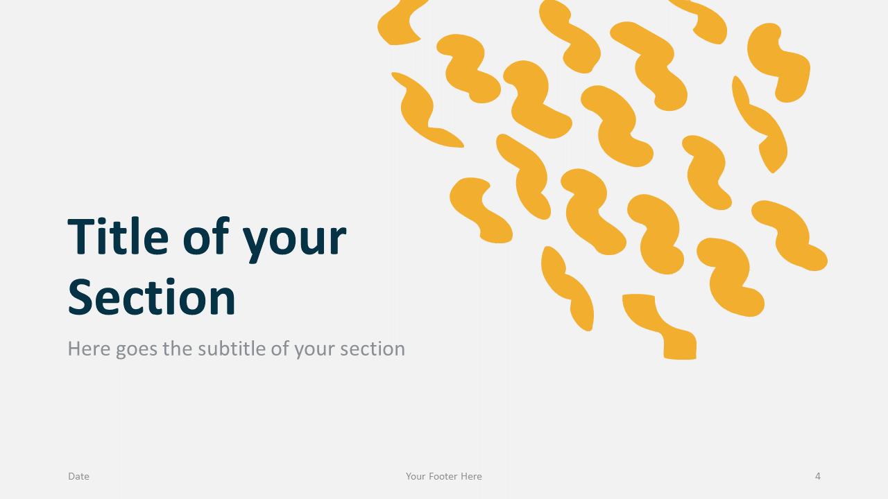 Free Scribble Lines Template for Google Slides – Section Slide (Variant 1)
