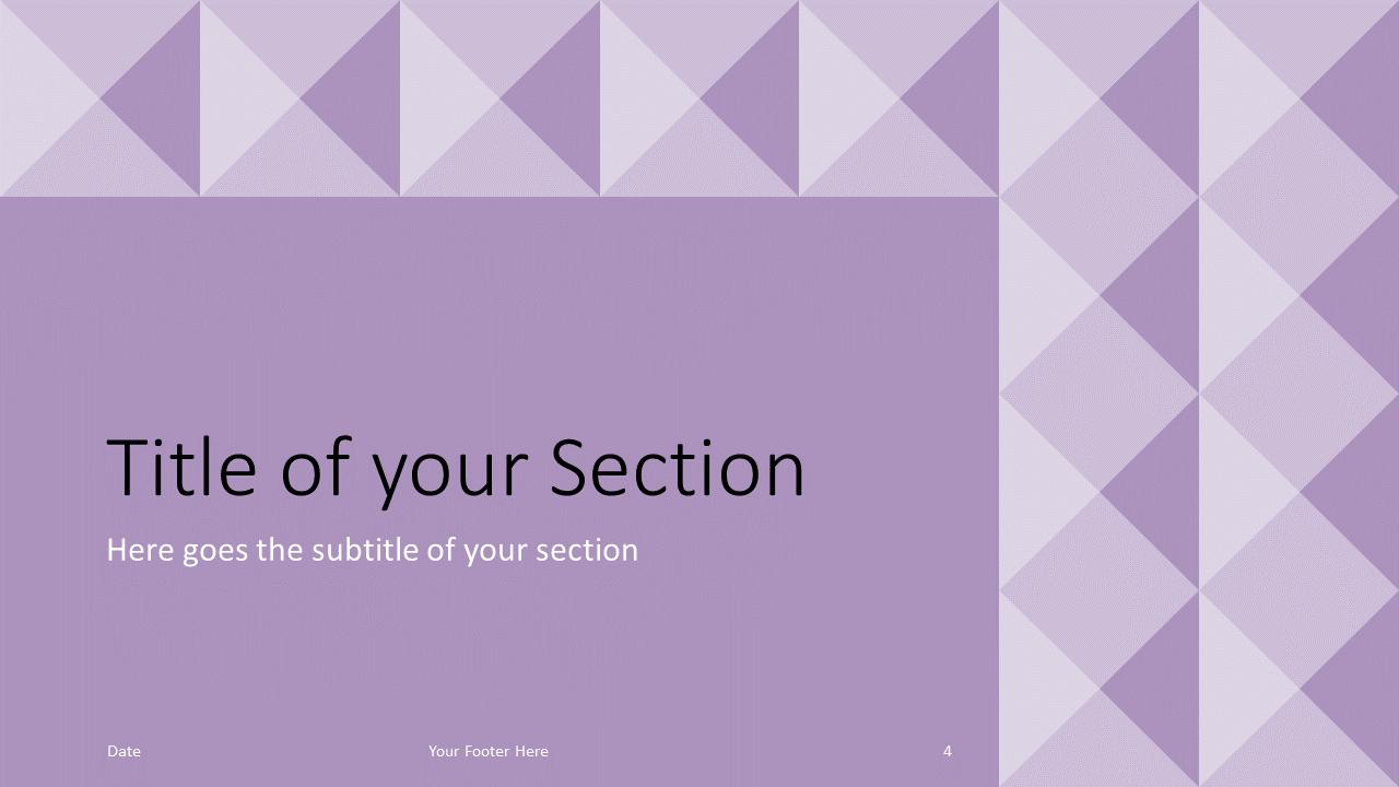 Free Tugboat Geometric Mosaic Template for Google Slides – Section Slide (Variant 1)