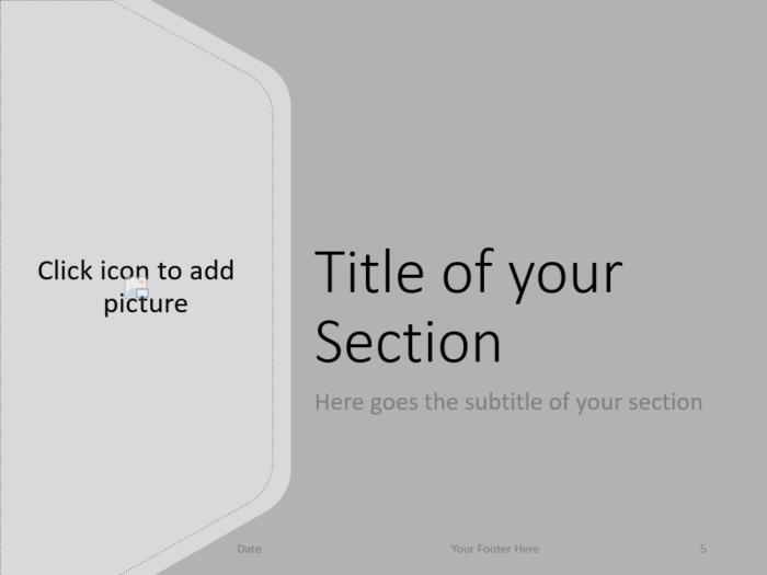 Free Hexagon Template for PowerPoint – Section Slide (Variant 2)