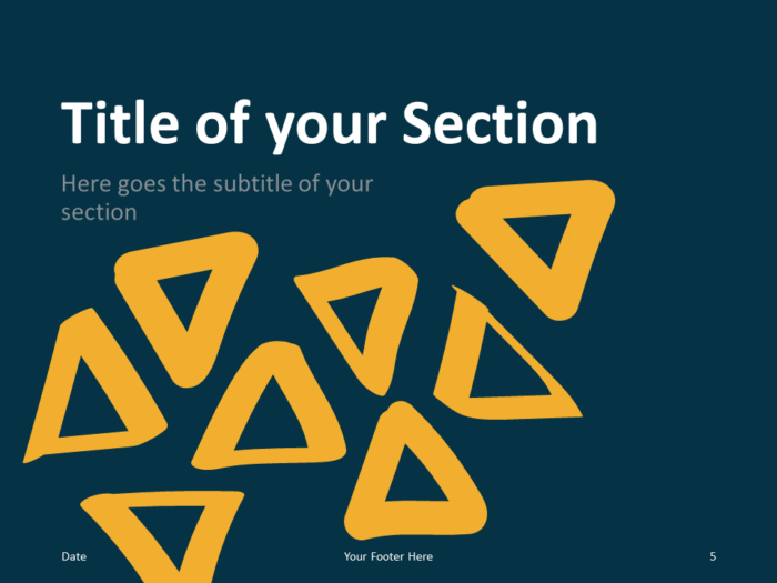 Free Scribble Lines Template for PowerPoint – Section Slide (Variant 2)
