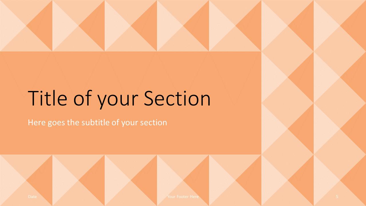 Free Tugboat Geometric Mosaic Template for Google Slides – Section Slide (Variant 2)