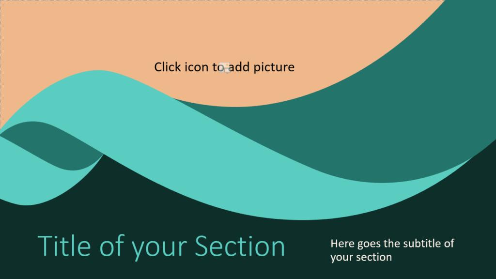 Free Turquoise Swirl Template for Google Slides – Section Slide (Variant 2)