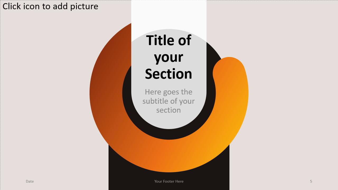 Free Chrono Template for Google Slides – Section Slide (Variant 2)