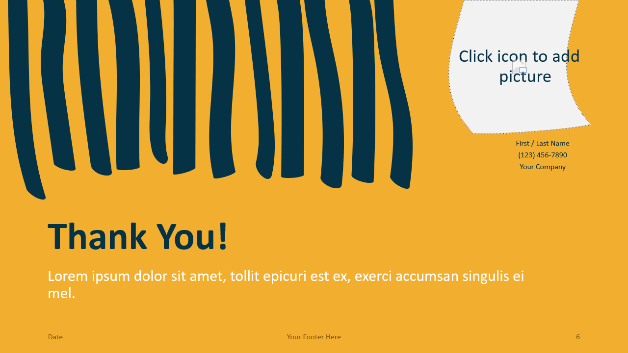 Free Scribble Lines Template for Google Slides - Closing / Thank you