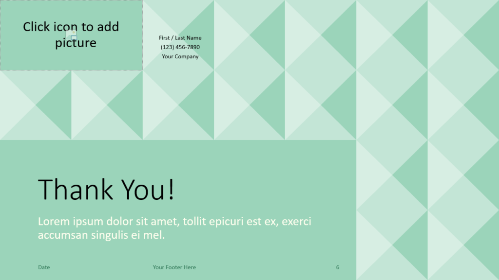 Free Tugboat Geometric Mosaic Template for Google Slides - Closing / Thank you