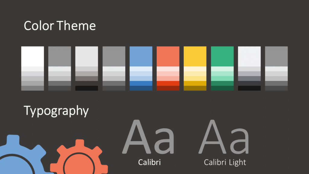Free Gears Template for Google Slides – Colors and Fonts