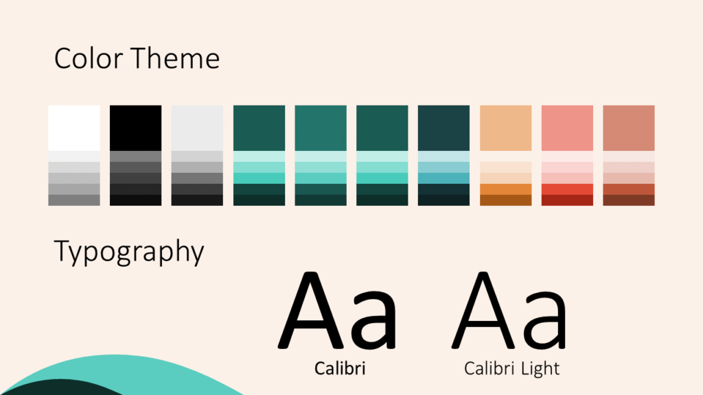 Free Turquoise Swirl Template for Google Slides – Colors and Fonts