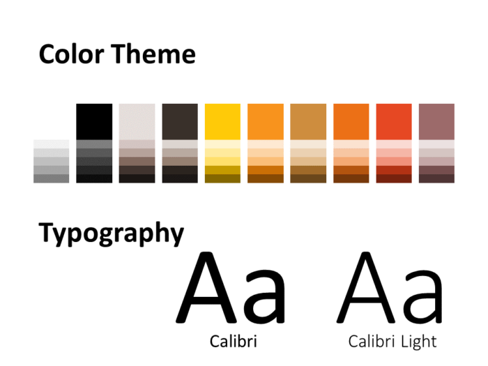 Free Chrono Template for PowerPoint – Colors and Fonts