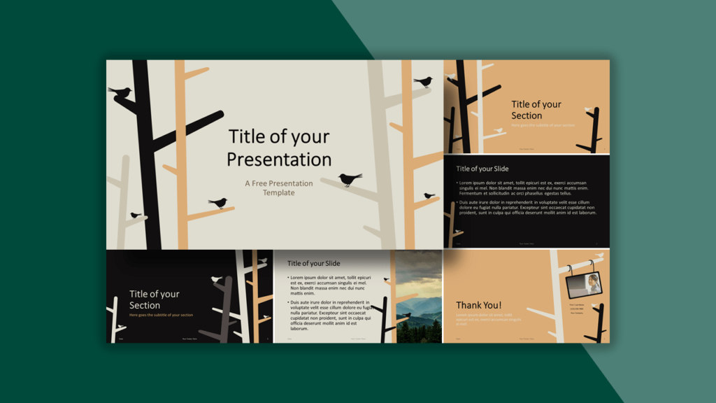 Birds Template for PowerPoint