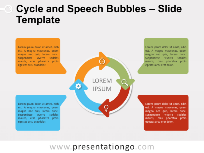 Free Cycle Speech Bubbles for PowerPoint