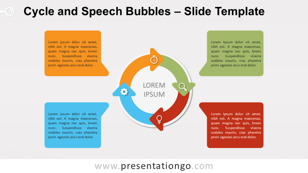 Free Cycle Speech Bubbles for PowerPoint and Google Slides