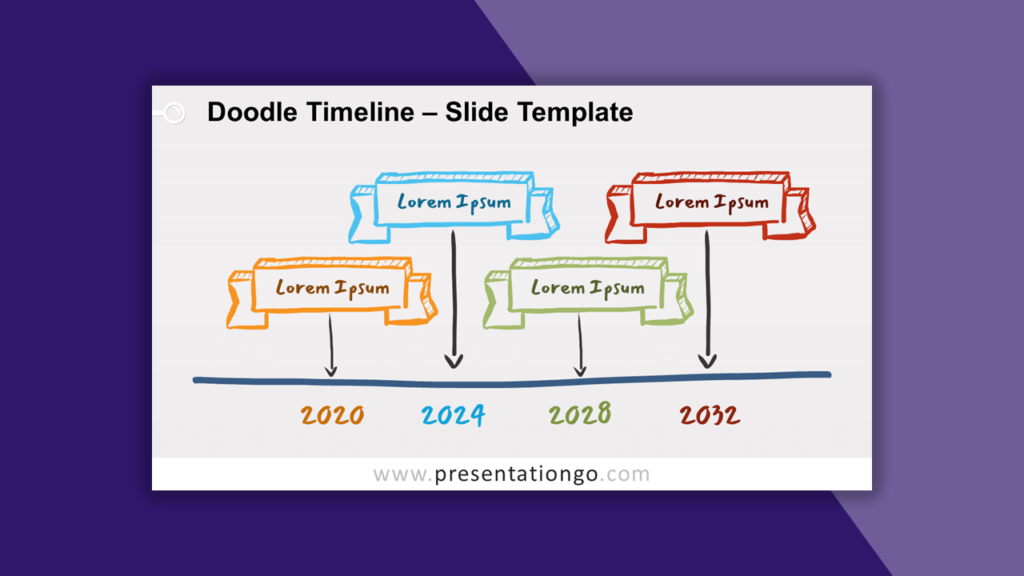 Doodle Timeline for PowerPoint and Google Slides