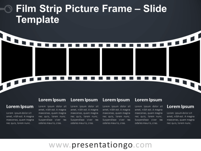 Free Film Strip Picture Frame Infographic for PowerPoint