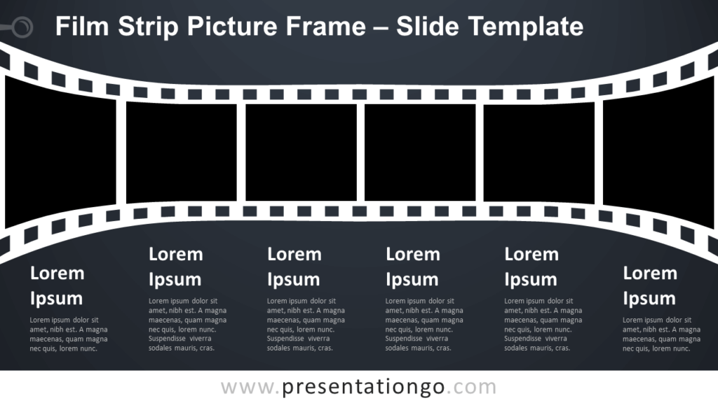 Free Film Strip Picture Frame Infographic for PowerPoint and Google Slides