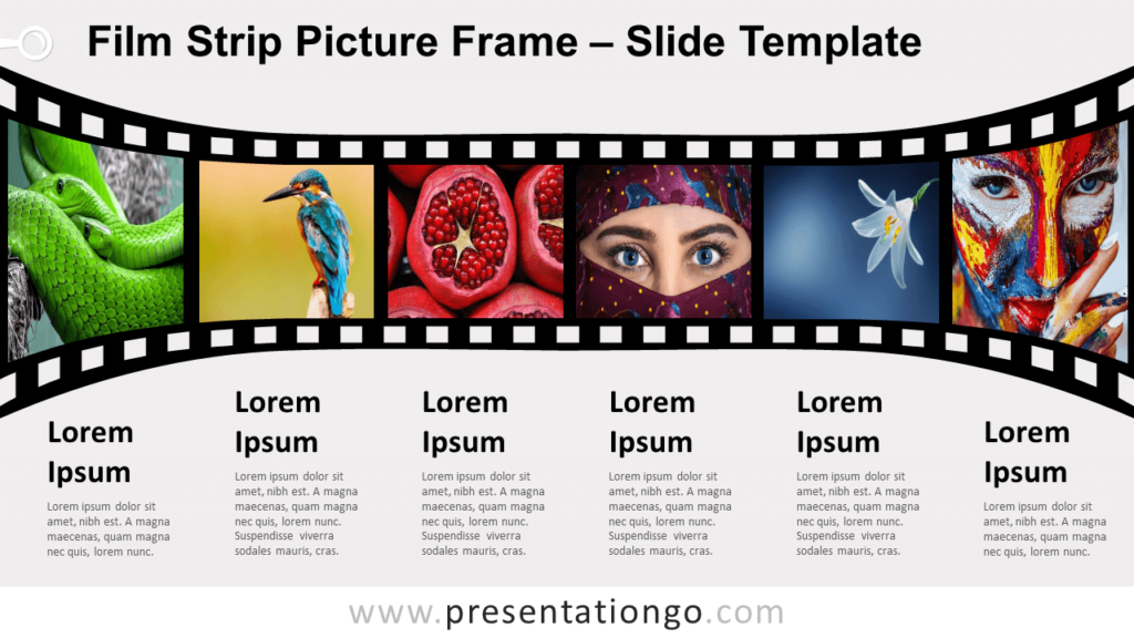 Free Film Strip Picture Frame for PowerPoint and Google Slides