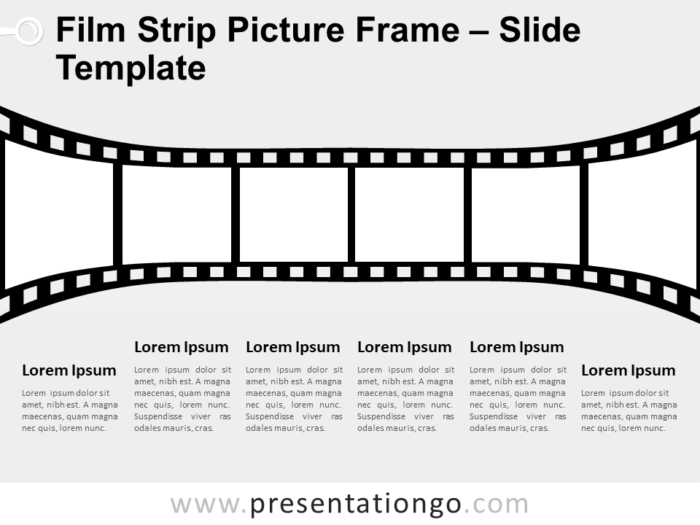 Free Film Strip Picture Frame Slide for PowerPoint