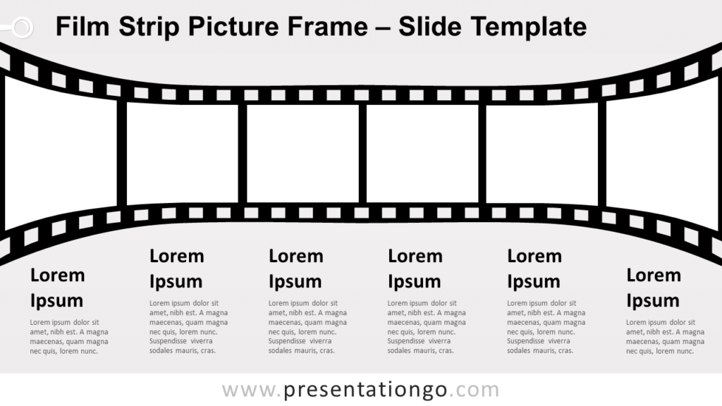 Free Film Strip Picture Frame Slide for PowerPoint and Google Slides