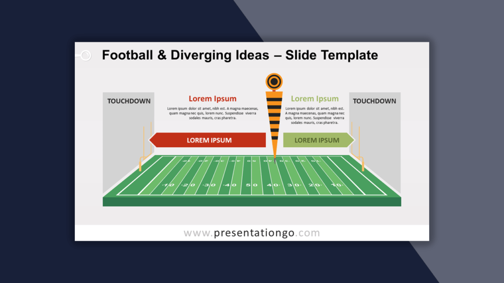 Football Diverging Ideas Template for PowerPoint