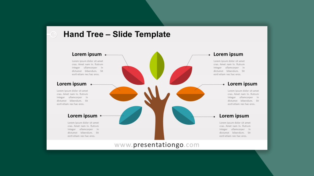Hand Tree Template for PowerPoint
