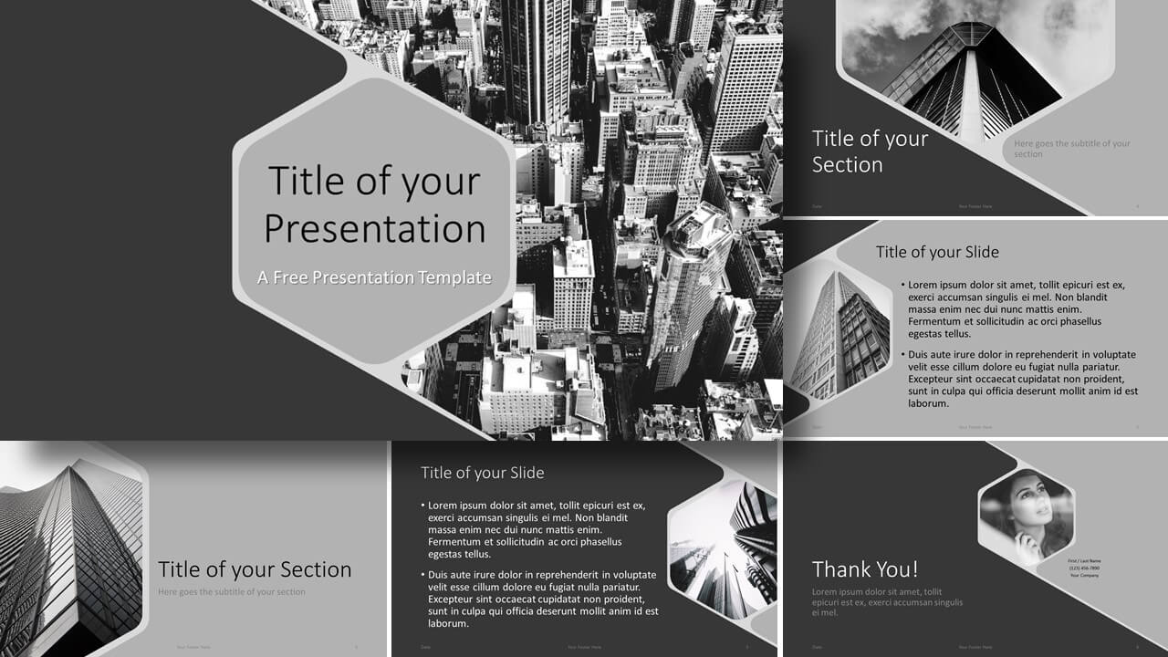 Free Hexagon Template for Google Slides and PowerPoint