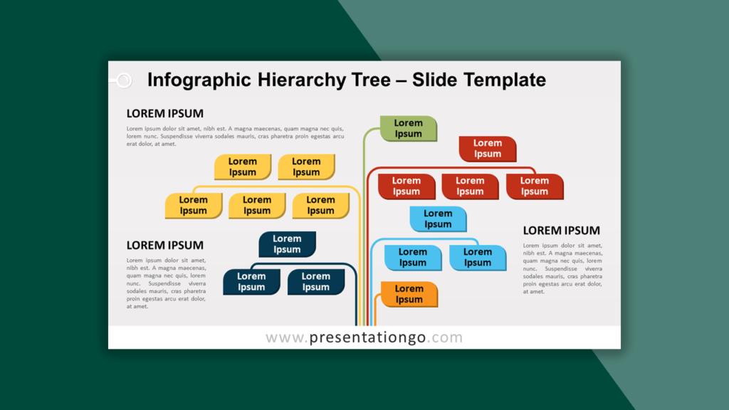 Infographic Hierarchy Tree Template for PowerPoint