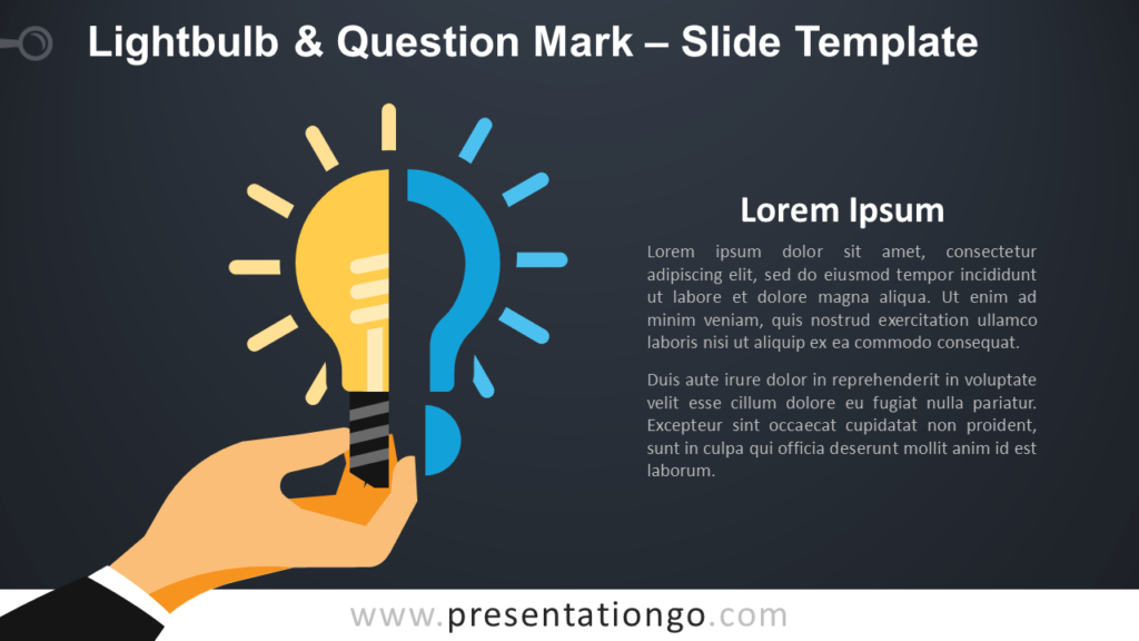 Free Lightbulb & Question Mark Infographic for PowerPoint and Google Slides