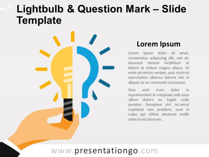 Free Lightbulb & Question Mark for PowerPoint