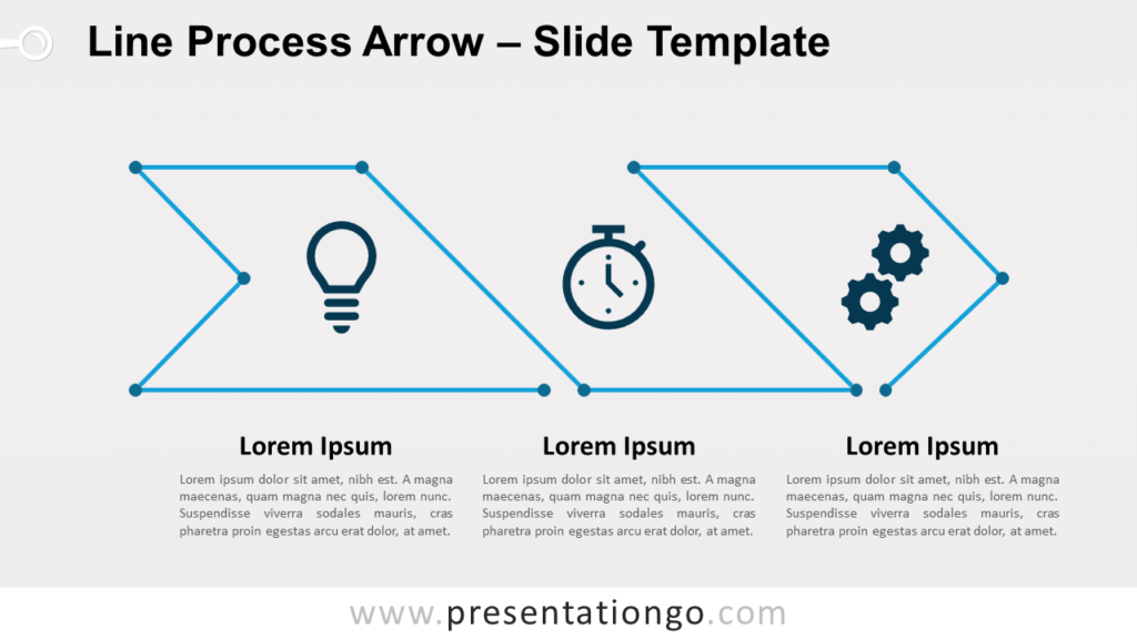 Free Line Process Arrow for PowerPoint and Google Slides