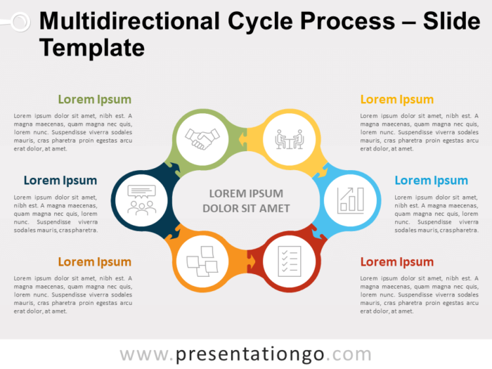 Free Multidirectional Cycle Process for PowerPoint