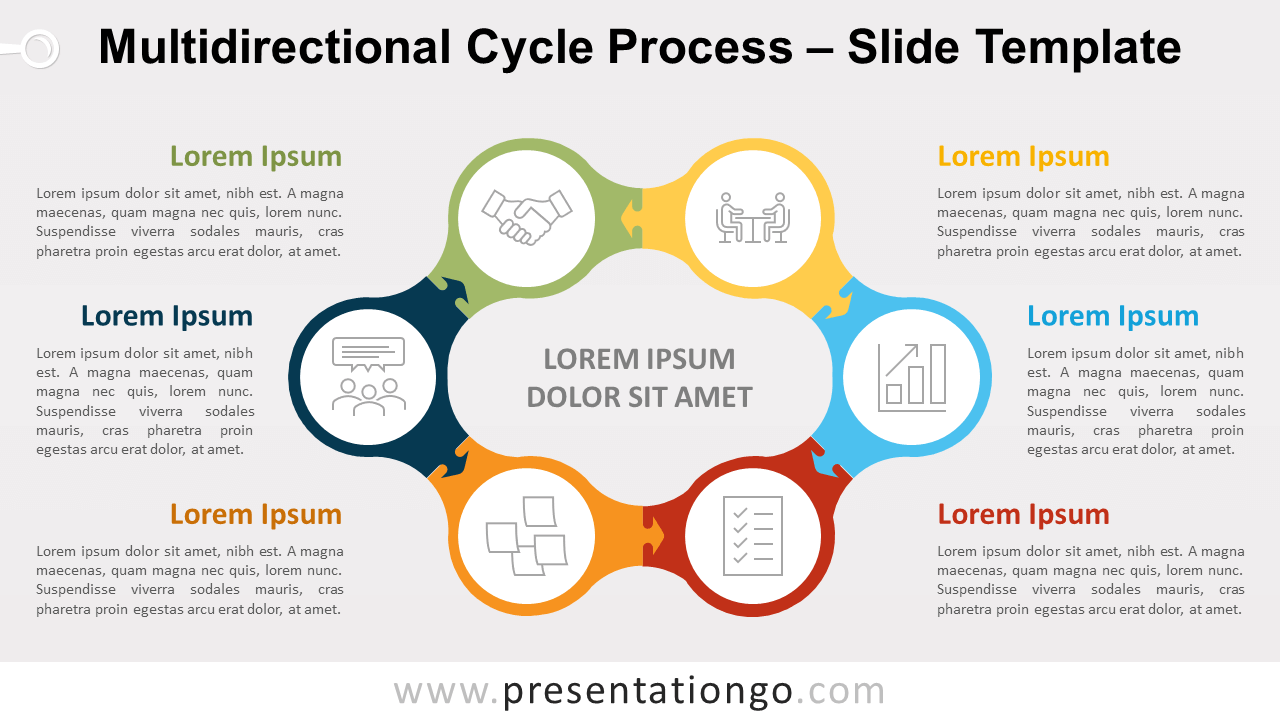 Free Multidirectional Cycle Process for PowerPoint and Google Slides