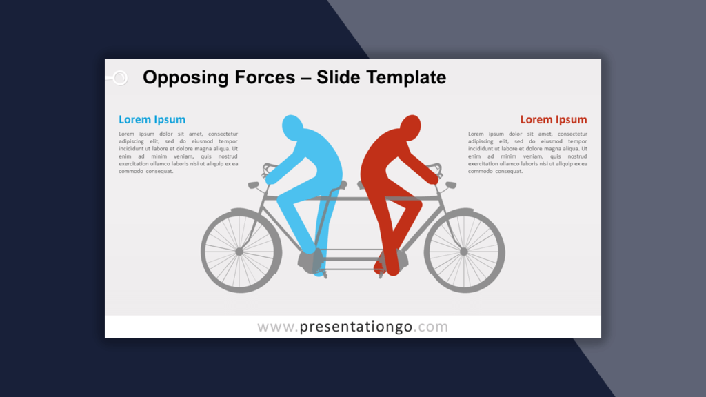 Opposing Forces Template for PowerPoint