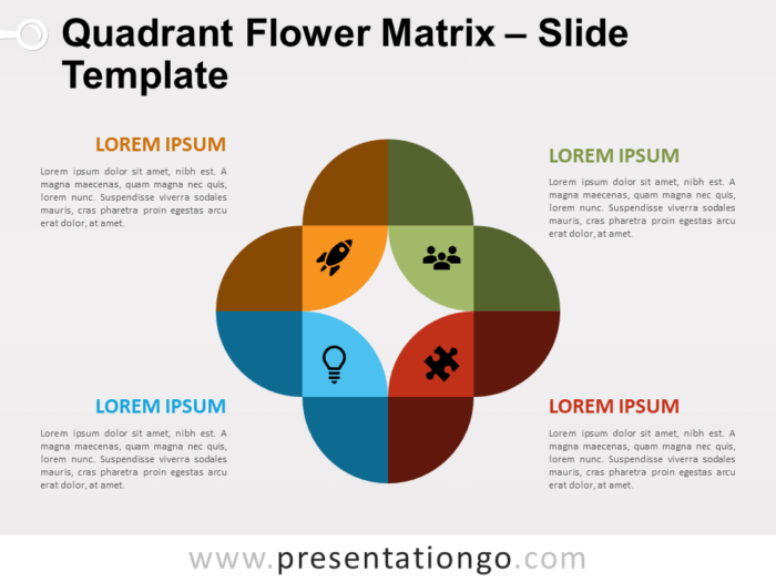 Free Quadrant Flower Matrix for PowerPoint