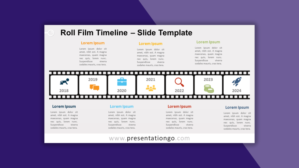 Roll Film Timeline for PowerPoint and Google Slides