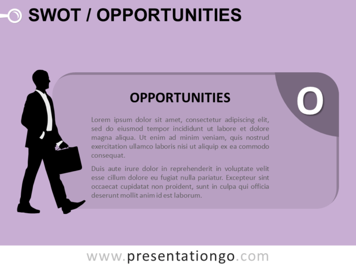 Free SWOT Businessmen Opportunities for PowerPoint