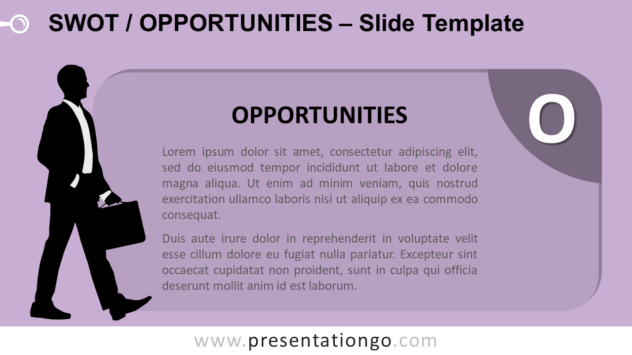 Free SWOT Businessmen Opportunities for PowerPoint and Google Slides