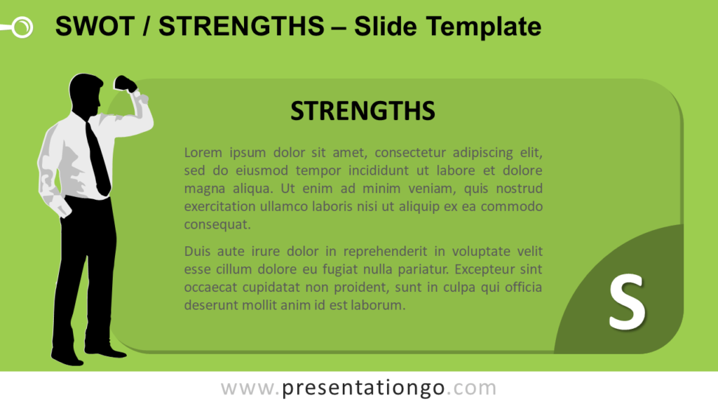 Free SWOT Businessmen Strenghts for PowerPoint and Google Slides