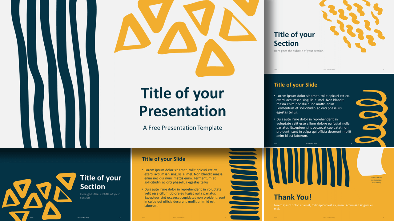 Free Scribble Lines Template for Google Slides and PowerPoint
