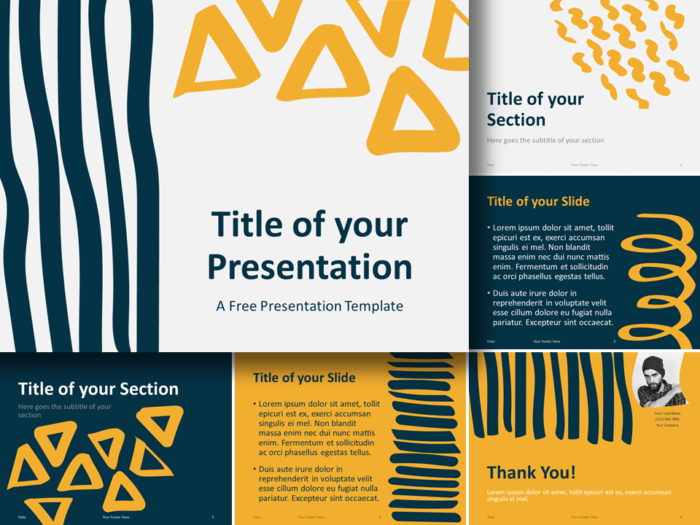 Free Scribble Lines Template for PowerPoint and Google Slides
