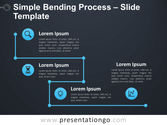 Free Simple Bending Process Diagram for PowerPoint