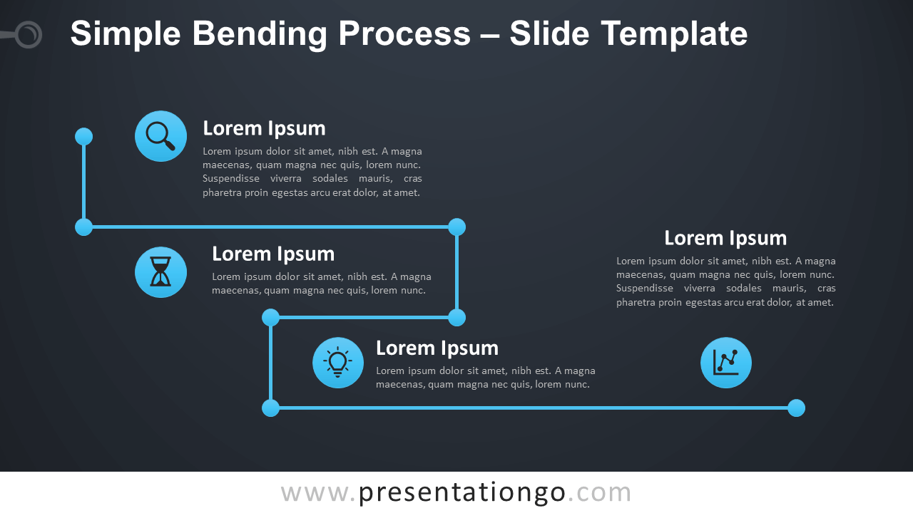 Free Simple Bending Process Diagram for PowerPoint and Google Slides