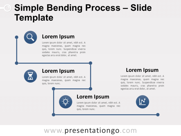 Free Simple Bending Process for PowerPoint