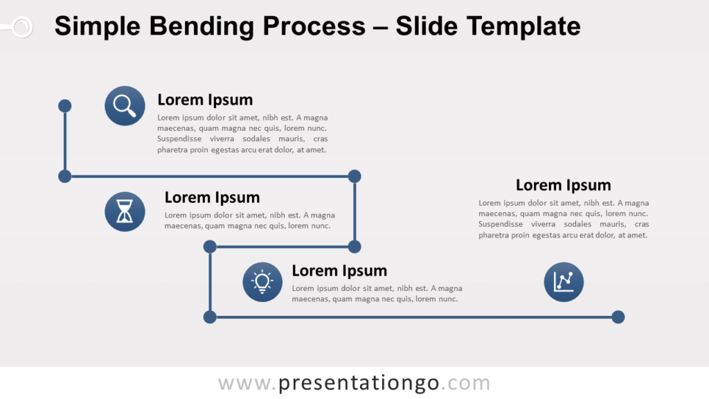 Free Simple Bending Process for PowerPoint and Google Slides