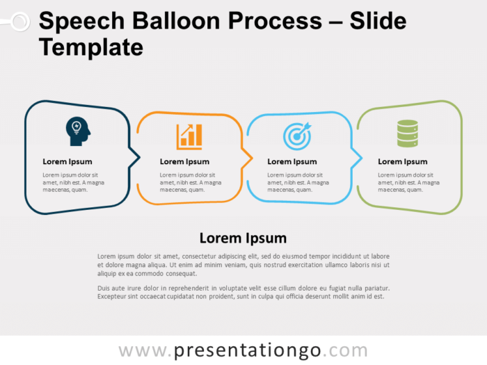 Free Speech Balloon Process for PowerPoint