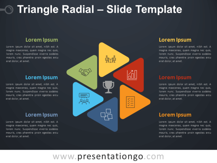 Free Triangle Radial Diagram for PowerPoint