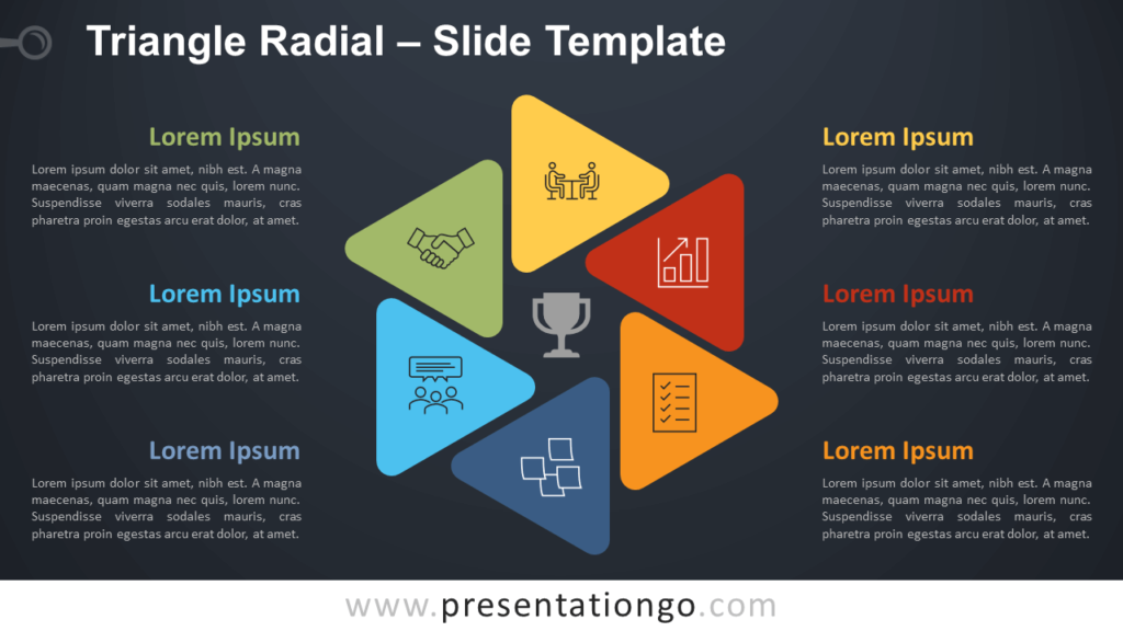 Free Triangle Radial Diagram for PowerPoint and Google Slides