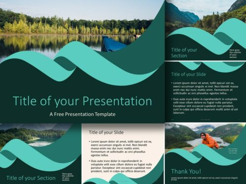 Free Turquoise Swirl Template for PowerPoint and Google Slides