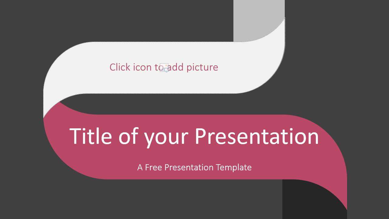 Free Twisted Strip Template for Google Slides - Cover Slide